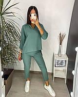 Женский стильный прогулочный костюм с брюками и блузкой (Норма и батал), фото 6