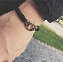 Браслет унісекс на руку наручники два кольори, фото 2