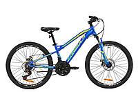 """Велосипед 24"""" Formula BLACKWOOD 2.0 2020 (синьо-жовто-салатовий)"""