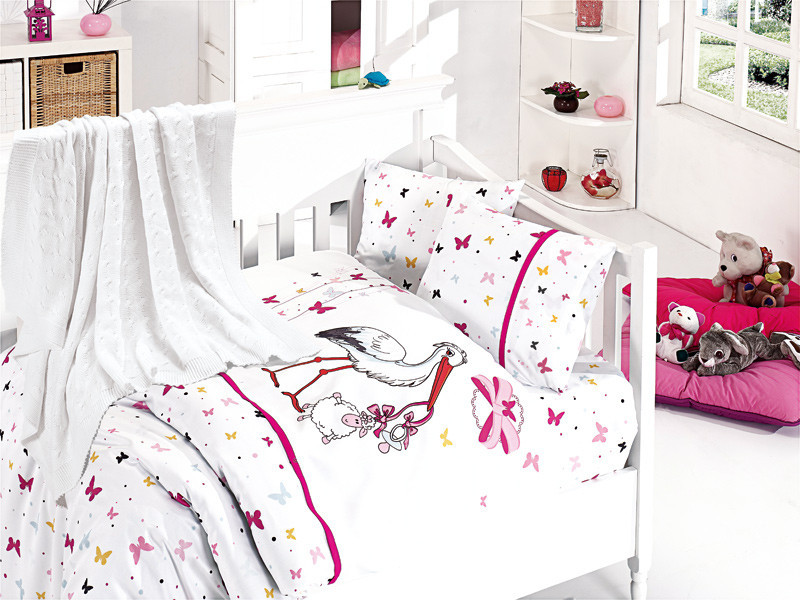 Детское постельное белье c First Choice Nirvana Stork Pembe N 402
