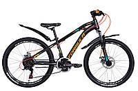 """Велосипед 24"""" Formula DAKAR 2021 (черно-оранжевый с бирюзовым (м))"""