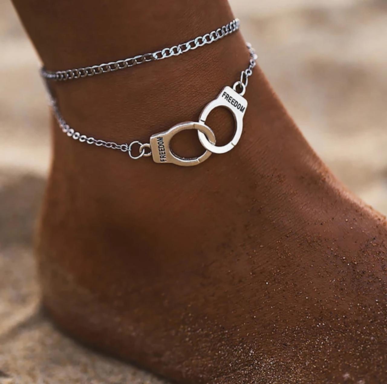 Цепочка на ногу наручники