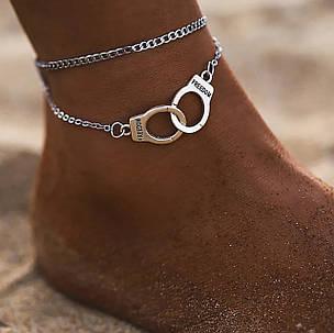 Цепочка на ногу наручники, фото 2