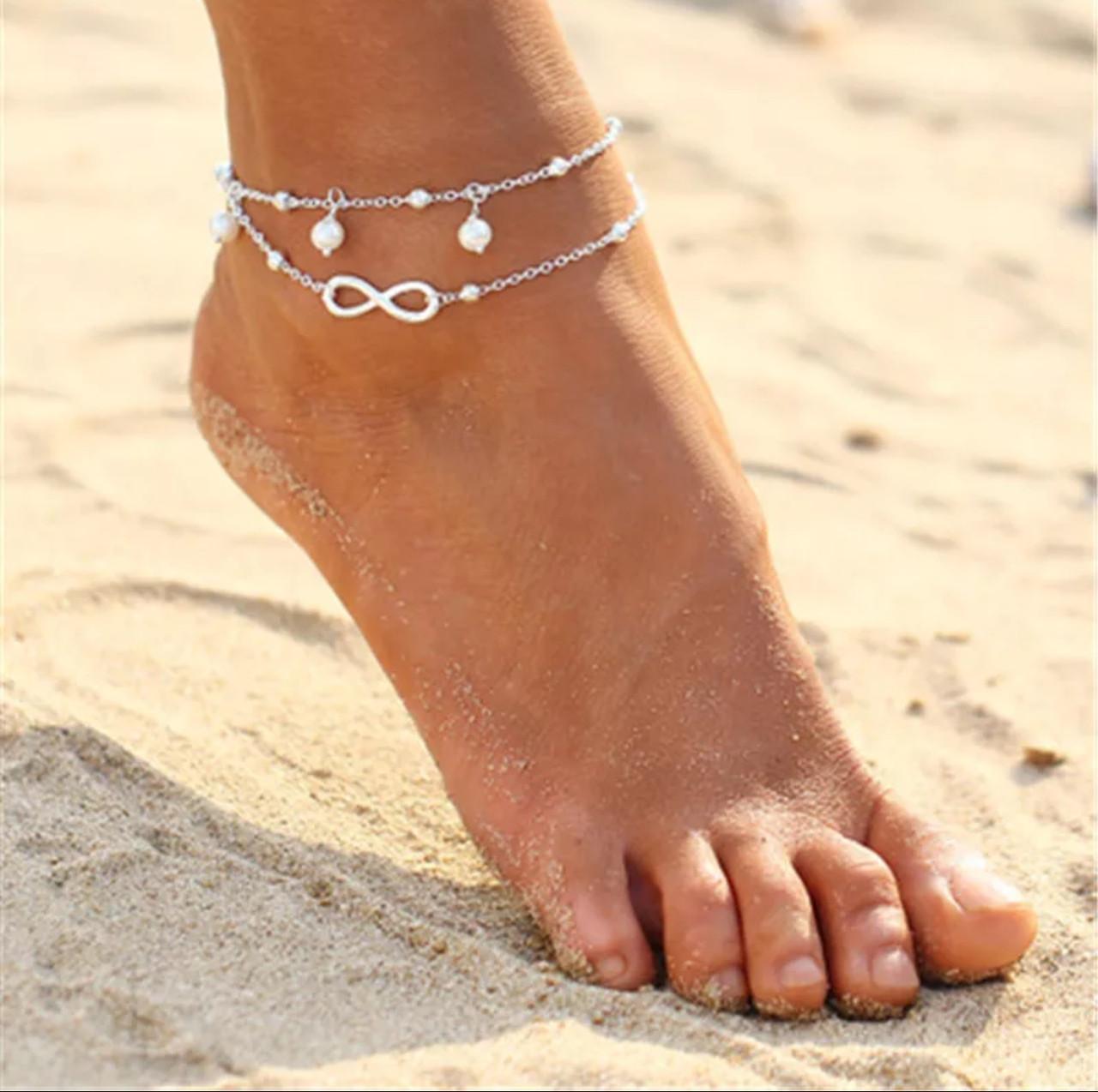 Ланцюжок на ногу знак нескінченності