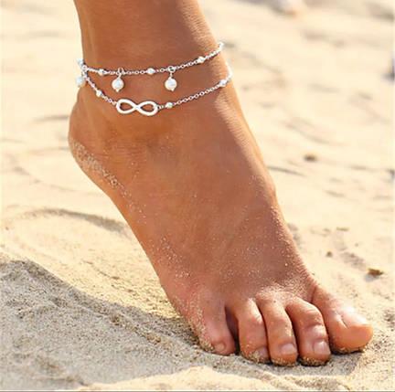 Ланцюжок на ногу знак нескінченності, фото 2