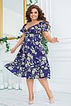 Літнє плаття жіноче вільний великого розміру, фото 3