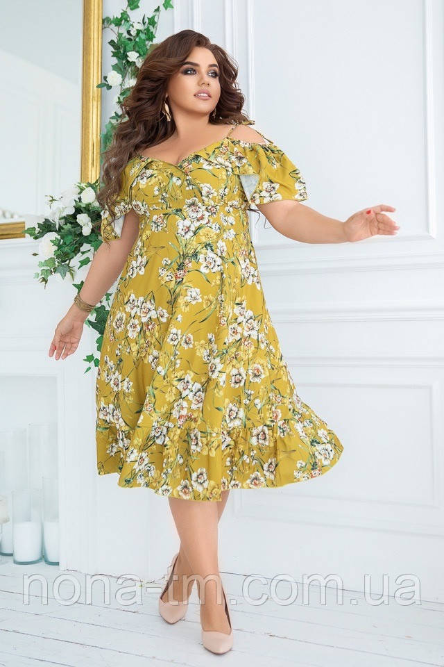 Летнее платье женское свободное большого размера