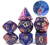 Кубики кости 7шт многогранные кубики ( №4 )