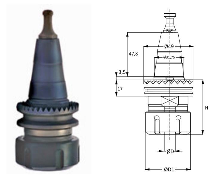 Патрон ISO30 зубчастий фланець Scm, Morbidelli ЧПУ S30PSX26 74x63x4-30x63 RH, LH