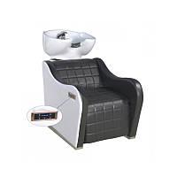 Мойка парикмахерская удобная с массажем кресло + электроподножка автоматическая Кресло-мойка +массаж спины