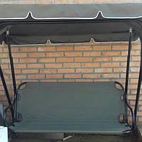 Крыша тент из непромокаемой ткани на садовые качели 170х110
