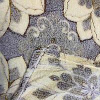 Плед покрывало стрижка MALLOORY микрофибра 180 х 200 (31105) Коричневые большие цветы