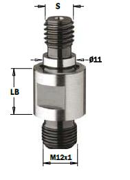 Адаптер для свердлильного верстата 506.350.02 M10/11x4x35 RH, LH