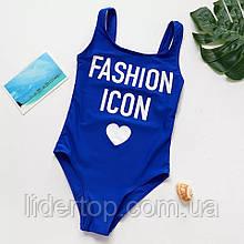 Купальник на Девочку Слитный Цельный Fashion Icon  9/10 р Маломерят
