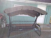 Крыша тент из непромокаемой ткани на садовые качели 235х122