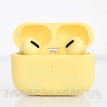 Наушники беспроводные в дизайне AirPods Pro, Macaron pro Air 3 Pro 1:1. Желтые.