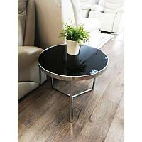 Журнальный стол Signal Мебель Delia I Черный (DELIAICCH), кофейный столик, прикроватный столик стекло D-43см.