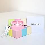 Наушники беспроводные в дизайне AirPods Pro, Macaron pro Air 3 Pro 1:1. Розовые., фото 2