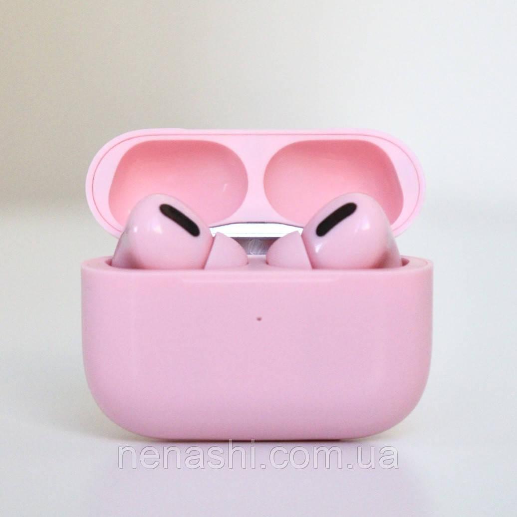 Наушники беспроводные в дизайне AirPods Pro, Macaron pro Air 3 Pro 1:1. Розовые.