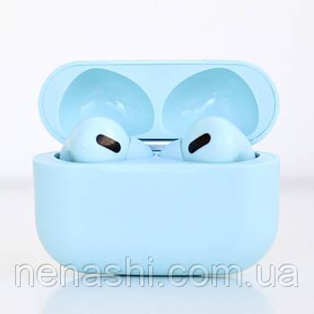 Наушники беспроводные в дизайне AirPods Pro, Macaron pro Air 3 Pro 1:1. Голубые.