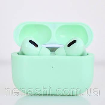 Навушники безпровідні в дизайні AirPods Pro, Macaron pro Air 3 Pro 1:1. Зелені.