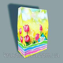 Подарочная пасхальная коробка, Тюльпаны, 23х35х10 см