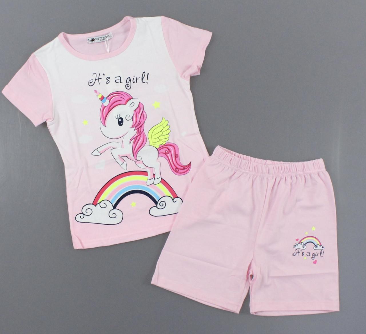 Пижама для девочек Setty Koop, 1-5 лет. Артикул: PJM112-розовый [2 года] 5 лет