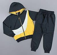 {есть:116,122,128,134,140,146} Трикотажный костюм - двойка для мальчиков S&D,  Артикул: CH6207-жёлтый [116], фото 1