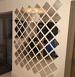 Акрилове дзеркало 15×15 см × 0.2 мм срібло 1 шт, фото 9