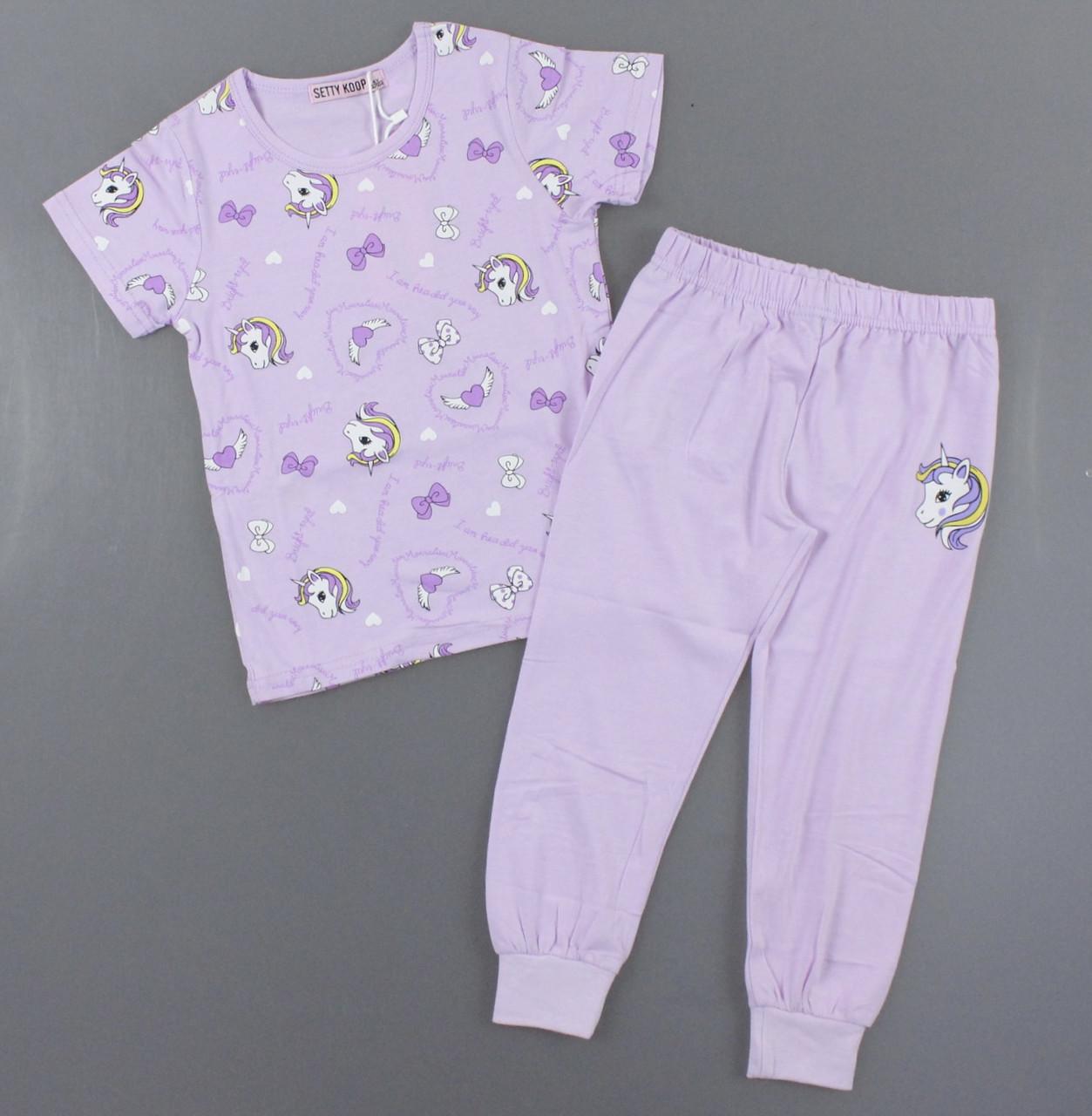 Пижама для девочек Setty Koop, 4-12 лет. Артикул: FR1078-сирень [6 лет]