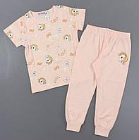 {есть:4 года 104 СМ,6 лет 116 СМ,8 лет 128 СМ} Пижама для девочек Setty Koop,   Артикул: FR1078-персик [8 лет