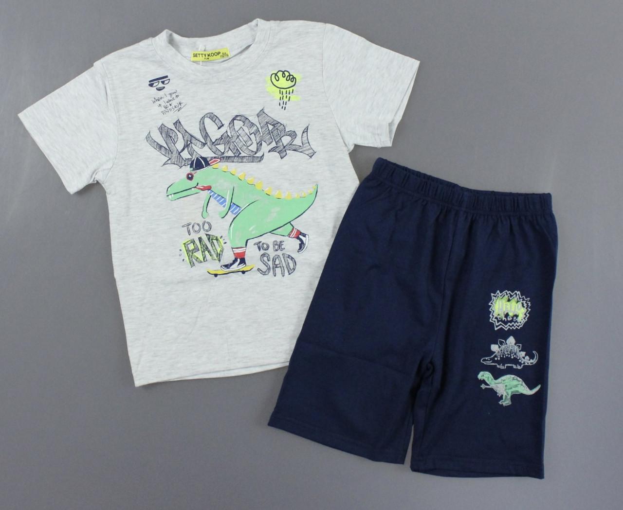 Піжама для хлопчиків Setty Koop, 4-12 років. Артикул: PJM110-сірий [10 років]
