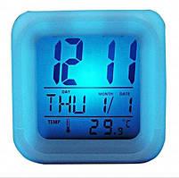 Светодиодные часы будильник, часы хамелеон, светящиеся