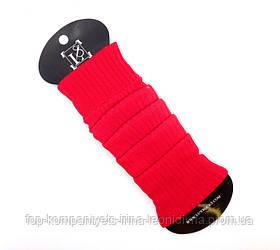 Гетры женские ТОП-ТАП трикотажные классические красные (Г-101)