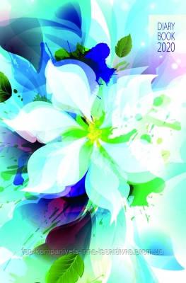 """Датований щоденник 2020 АРКУШ АРТ """"Біла квітка"""", лінія"""