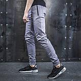 Джоггеры мужские BEZET Casual  серые  XL, фото 3