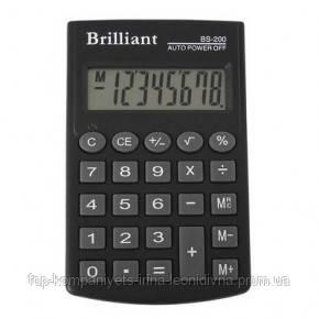 Калькулятор электронный Brilliant 8-разрядный (BS-200)