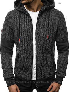 Куртка - кофта чоловіча J. STYLE сіра XXL