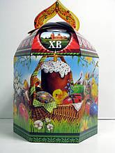 Подарочная пасхальная коробка для кулича, 500 гр, Картонная упаковка для пасхи, Днепр