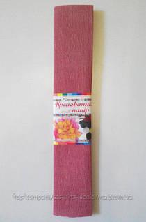 Набір кольорового паперу МІЦАР, крепований (бордовий) №12, 500мм/2000мм (5шт/уп)