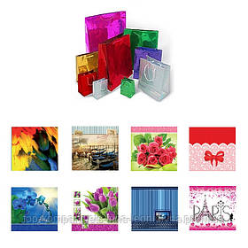 Пакет подарунковий СКАТ, квадратний, 25*25*8см., асорті (12шт/уп)