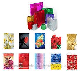 Пакет подарунковий СКАТ, середній, 16,5*25,5*6,5 див., асорті (12шт/уп)