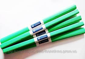 Папір крепований INTERDRUK (50см*200см), зелений №23 (10 шт/уп)