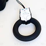 Чохол силіконовий для бездротових навушників Apple AirPods 2 Cat with fuck, Чорний, фото 4