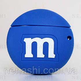 Чехол силиконовый для беспроводных наушников Apple AirPods 2 M&M`s, Синий