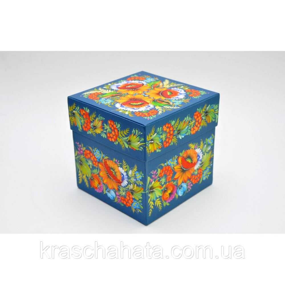 Картонная упаковка для конфет, Петриковка, 17х17х17 см
