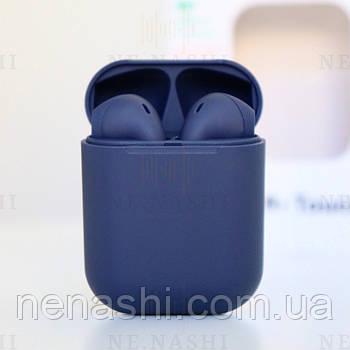 Беспроводные bluetooth-наушники V99-Touch с кейсом, темно-синий, navy blue