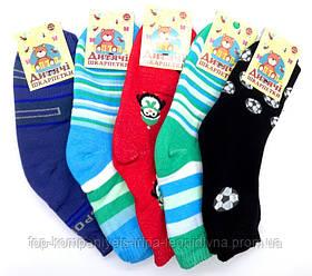 Шкарпетки дитячі ТОП-ТАП плюшеві для хлопчиків 20-22р 32-34 комплект 12 пар (Д-101)