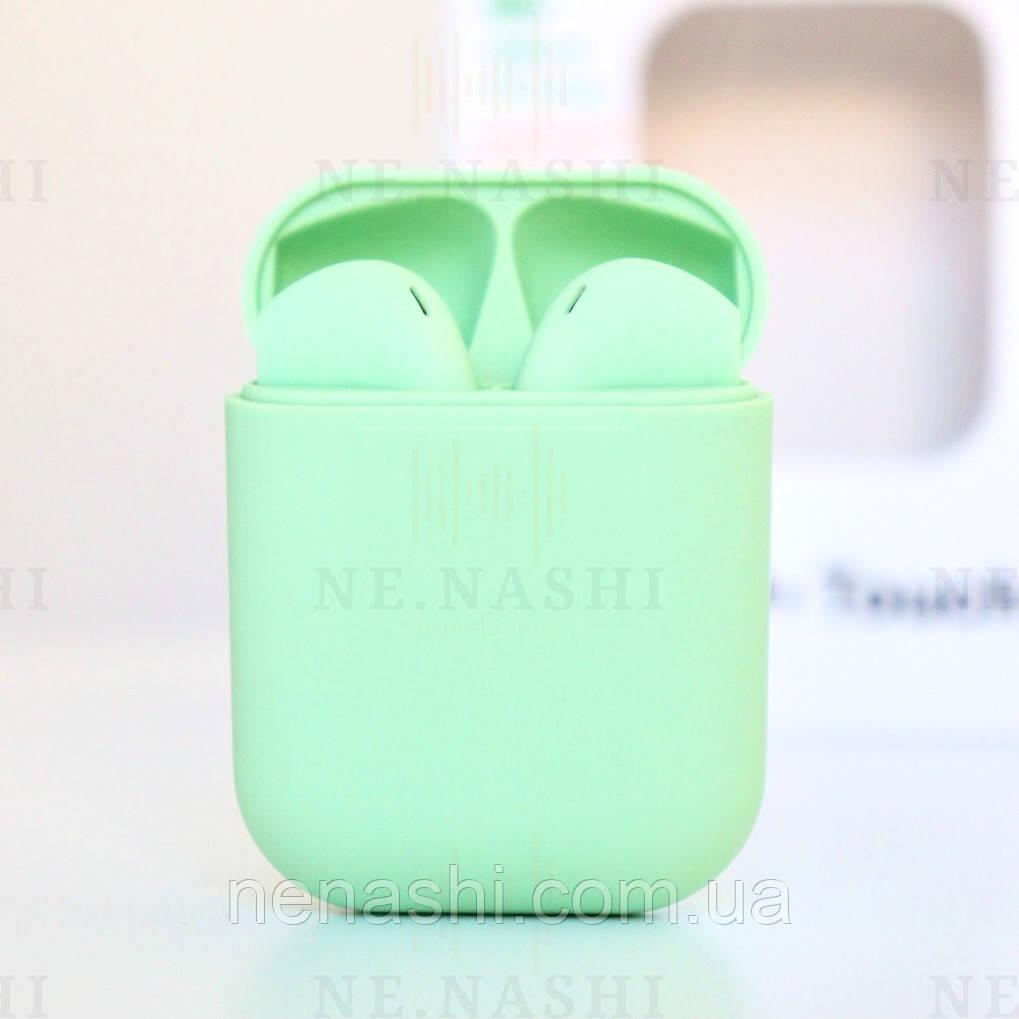 Беспроводные bluetooth-наушники V99-Touch с кейсом, green
