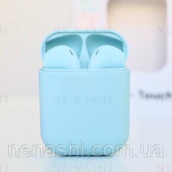 Беспроводные bluetooth-наушники V99-Touch с кейсом, blue